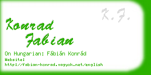 konrad fabian business card